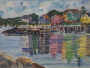 Morning Harbor Reflections