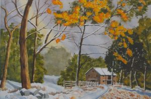 Early Snowfall, Labor-in-Vain Road