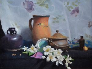 Flowers, Clay and Glass